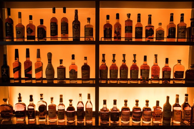 Another view of the selection at the Whiskey Room. - TRENTON ALMGREN-DAVIS