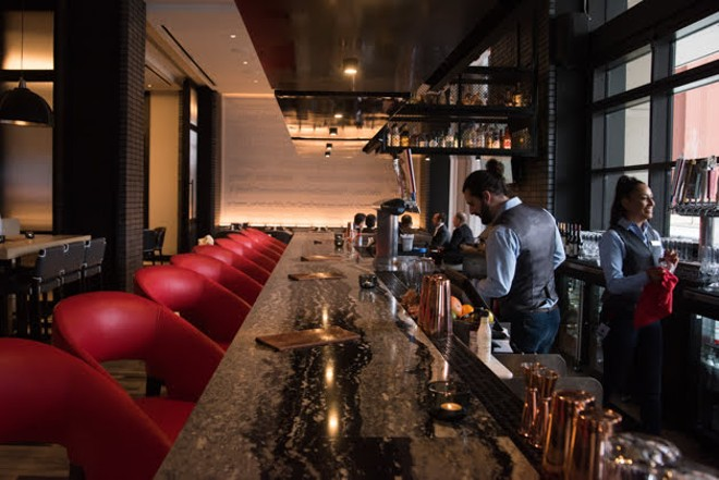 Bar Bourbon, located next to Clark & Bourbon, serves a selection of small bites and entrees in addition to a full bar with a whiskey, bourbon and rye focus. - TRENTON ALMGREN-DAVIS