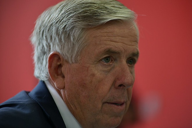 Governor Mike Parson says the state is working with universities to ramp up testing. - TOM HELLAUER