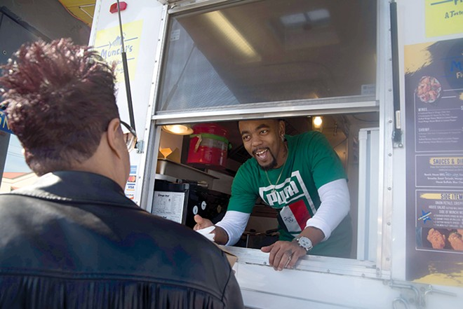 Woods' opened his latest business venture, a food trailer, while his attorneys fought to keep him out of prison. - TRENTON ALMGREN-DAVIS