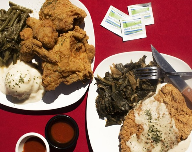 You can eat Miss Leon's famous fried chicken and help those in need this Sunday. - MABEL SUEN