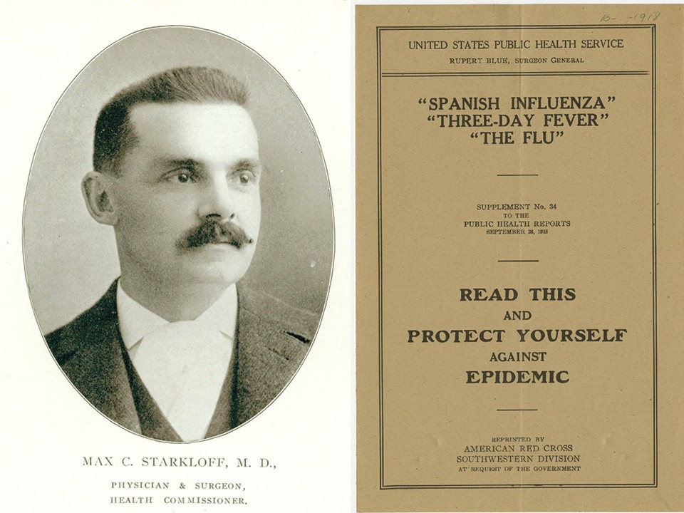 St. Louis' response to the Spanish flu, led by Dr. Max Starkloff, is held up as an example, but there were consequences.