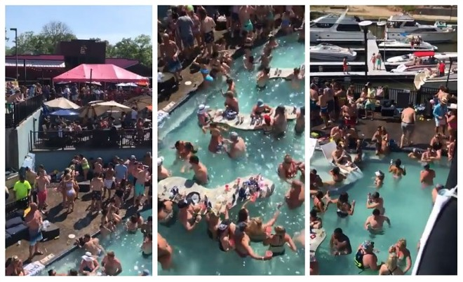 Backwater Jack's was the scene of a wild party this past weekend that went viral, likely in more ways than one.