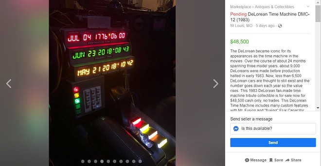 SCREENGRAB FROM THE FACEBOOK MARKETPLACE LISTING