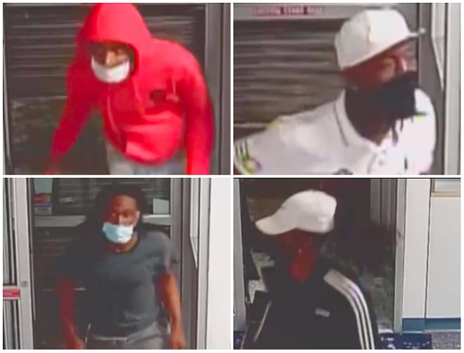 """Four of the """"persons of interest"""" in David Dorn's killing. - SCREENGRAB"""
