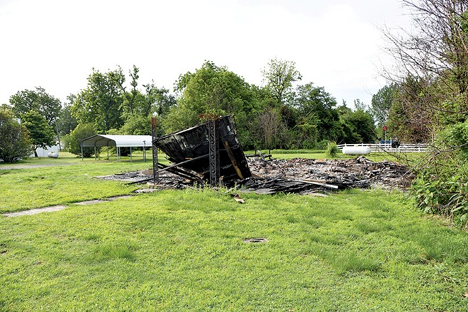 The charred remains of former Mayor Byrd's home. - DOYLE MURPHY