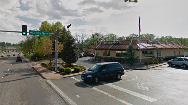 A 67-year-old man was with his grandson when he was carjacked in the lot of this McDonald's, St. Louis County police say. - VIA GOOGLE STREET VIEW