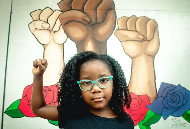 Children answered questions about race and the world around them for a new photo project. - DANIELLE FAITH