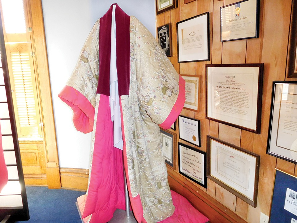 A silk kimono that belonged to Katherine Dunham. - COURTESY KATHERINE  DUNHAM CENTERS FOR ARTS AND HUMANITIES