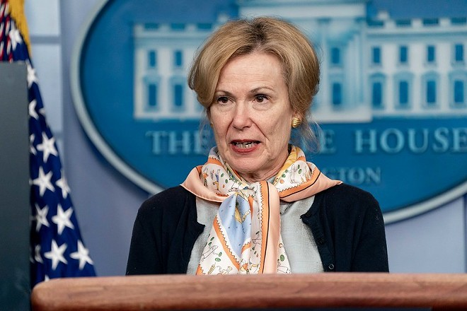 Dr. Deborah Birx listed St. Louis among eleven cities that need to take aggressive steps to combat COVID-19 spread. - OFFICIAL WHITE HOUSE PHOTO/ANDREA HANKS