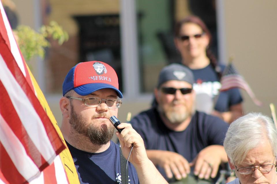 """Fredericktown resident John Johnson, organizer of June 24's """"Back the Blue"""" counter-protest. - ADAM HAMLIN"""