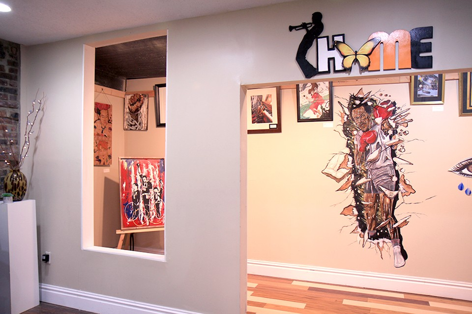 The house is now filled with art dedicated to Miles Davis. - ERIC BERGER