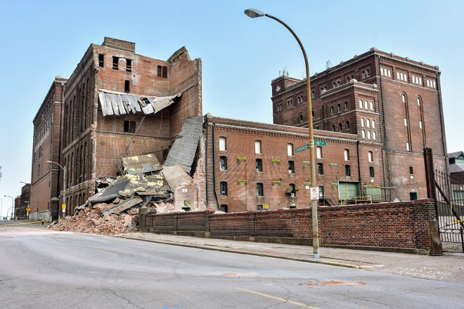 Lemp Brewery Building 20 after the partial collapse. - DOYLE MURPHY