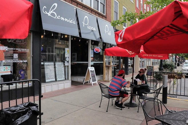 Outdoor seating at Bennie's Pizza Pub has helped during COVID-19 restrictions on indoor dining. - STEVEN DUONG