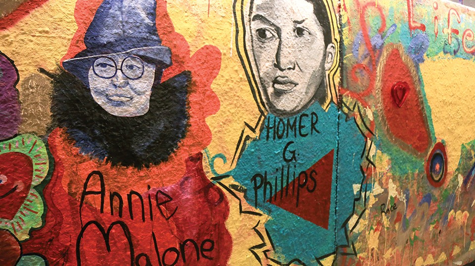 Portraits of Annie Malone and Homer G. Phillips by Damon Addison. - NICHOLAS COULTER