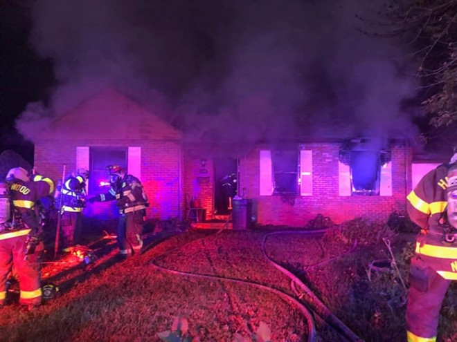 Firefighters responding to a home fire in Florrisant Tuesday got much more than they bargained for. - FLORISSANT VALLEY FIRE PROTECTION DISTRICT