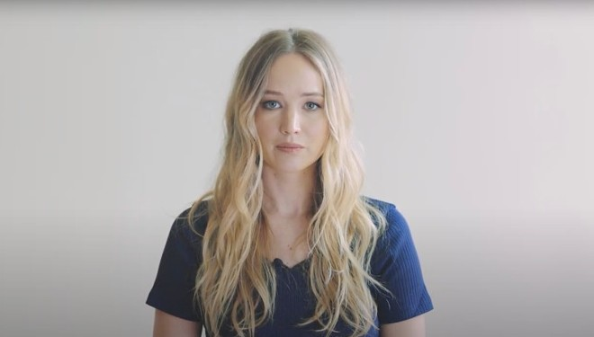 Actress Jennifer Lawrence tells Missourians to vote against Amendment 3 in new video. - SCREENSHOT