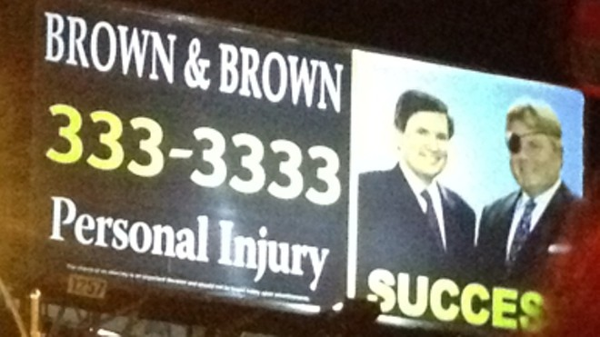 A Brown & Brown billboard that was along Gravois Avenue in south city - JAIME LEES