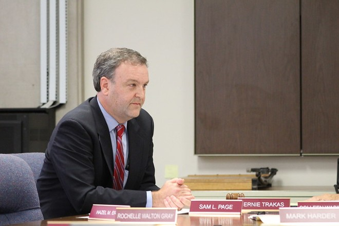 St. Louis County Sam Page, shown in a file photo, warns more COVID-19 restrictions could be on the way. - LEXIE MILLER