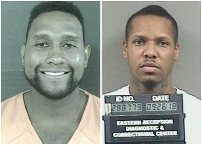 Tim Norman, left, conspired with Travell Hill in the killing, authorities say. - MADISON COUNTY, MISSISSIPPI DETENTION CENTER/MISSOURI DOC