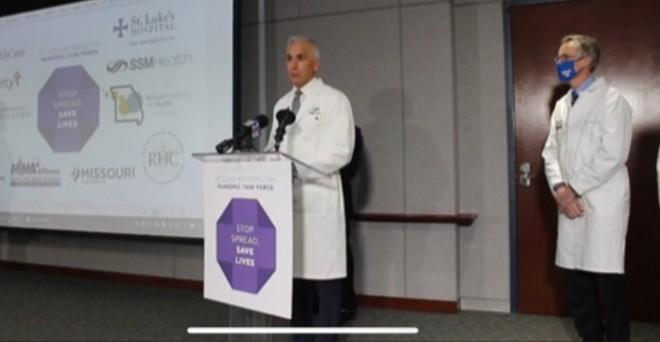 Dr. Alex Garza delivers Friday's briefing. - SCREENGRAB/FACEBOOK