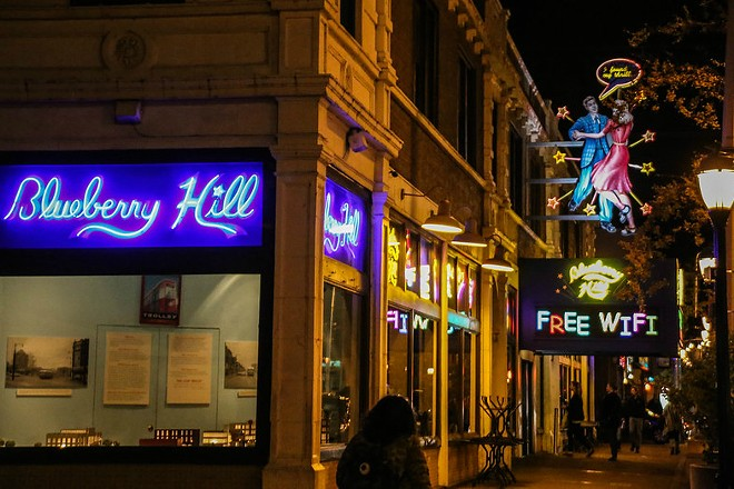 Blueberry Hill will be going carry-out only due to new restrictions meant to slow the spread of coronavirus. - PAUL SABLEMAN/FLICKR