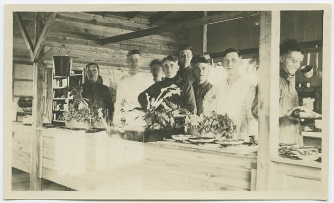 A Thanksgiving scene, dated 1917-1919, an era that battered by war and pandemic. - MISSOURI HISTORY MUSEUM COLLECTIONS