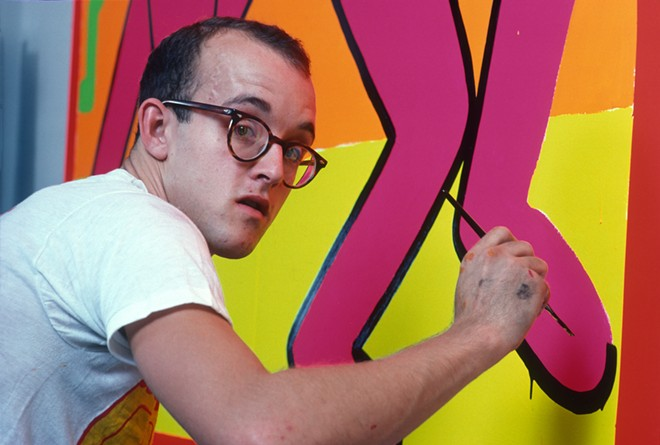 Keith Haring at Work in his Studio - COURTESY ALLAN TANNENBAUM