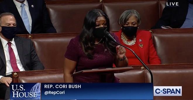 Rep. Cori Bush tells her fellow congressmen to impeach Trump. - SCREENGRAB CSPAN
