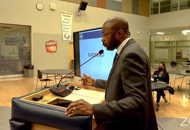 SLPS Superintendent Kelvin Adams. - SCREENSHOT VIA ZOOM