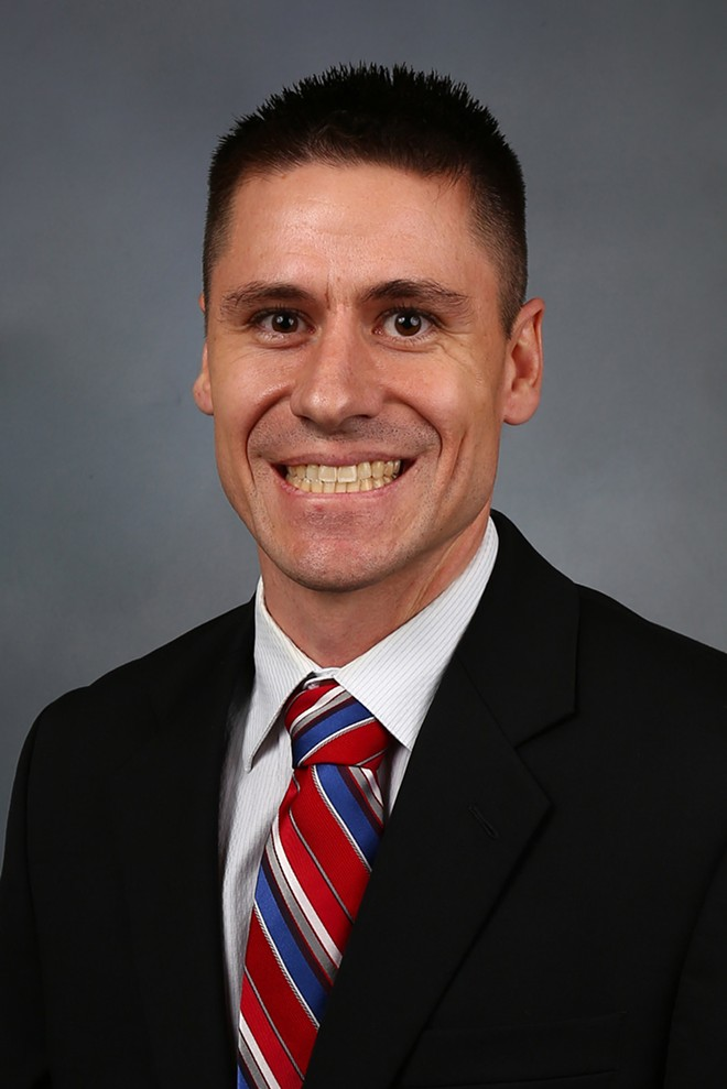 Rep. Andrew Koenig has tested positive for COVID-19, he says. - OFFICIAL PORTRAIT