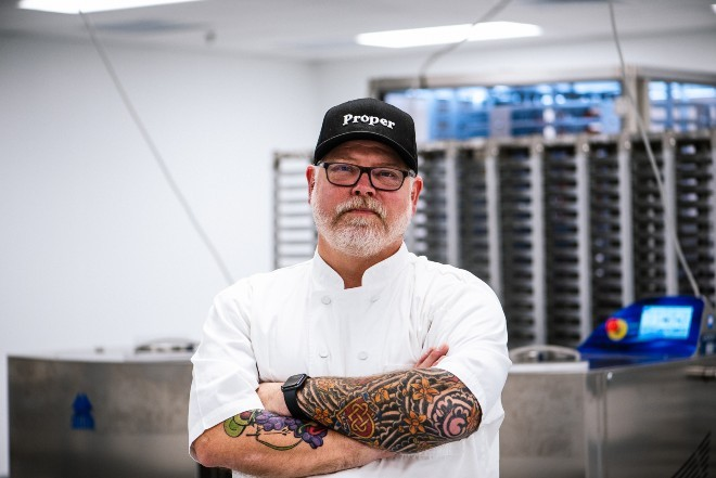 Chef Dave Owens, formerly of Bissinger's, is helping to create the gourmet brand, Honeybee Edibles. - SPENCER PERNIKOFF