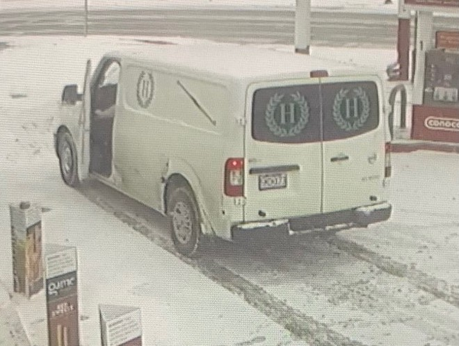 This funeral home van was stolen Thursday morning outside a north St. Louis County QuikTrip. - COURTESY ST. LOUIS COUNTY POLICE