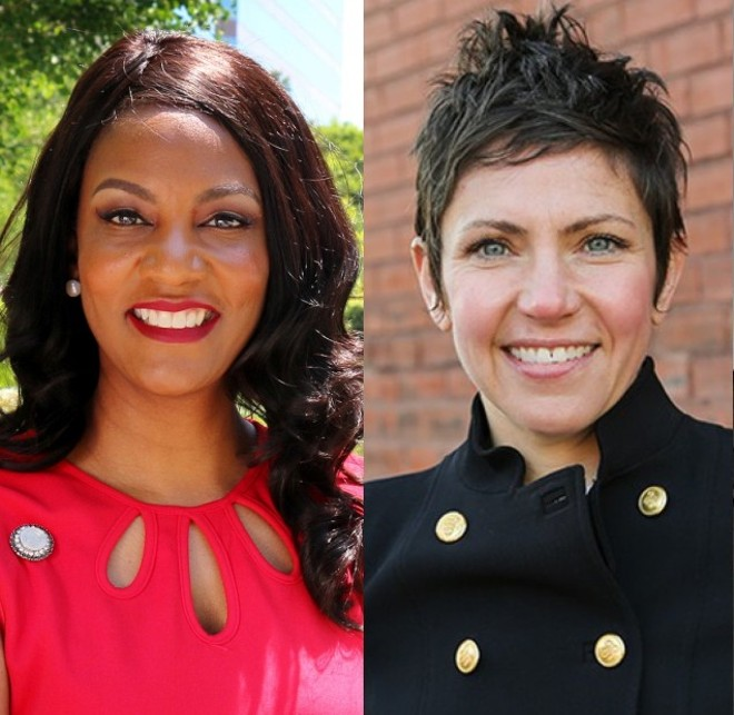 Treasurer Tishaura Jones and Alderwoman Cara Spencer will face off for mayor. - CAMPAIGN HANDOUTS