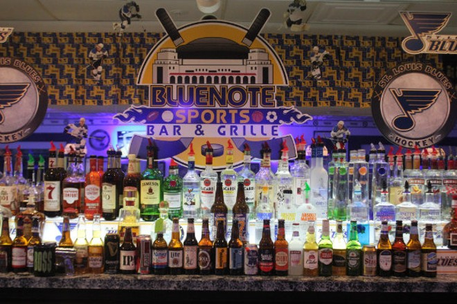 Bluenote Sports Bar and Grille is St. Louis' mecca for Blues fans. - CHERYL BAEHR