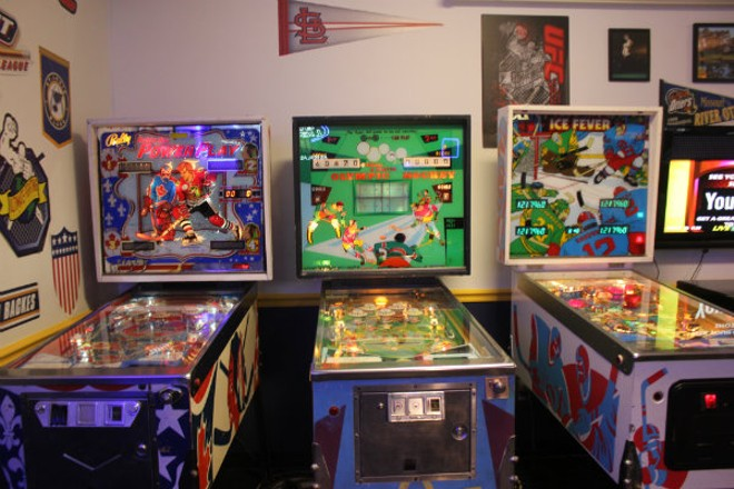 When there's a break in the game, Bluenote offers hockey themed pinball. - CHERYL BAEHR