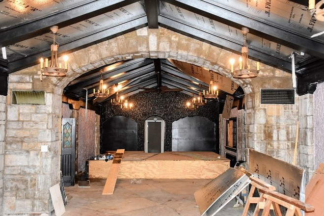 The main hall will get a refresh, including new wood facing between the beams on the ceiling. - DOYLE MURPHY