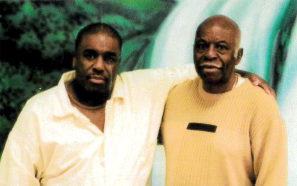 Derrick Howard with his father Vernado Howard.