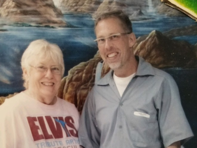 Penny Kopp and son Frank Flanders took this photo on one of Kopp's last visits to the Western Missouri Correctional Center before visits were suspended to try to limit the spread of covid. - TIMOTHY MCCLENDON