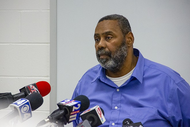 Dale Glass, St. Louis commissioner of corrections, says it's possible inmates jimmied their locks on Sunday. - DANNY WICENTOWSKI