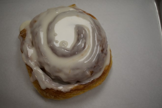 Cinnamon rolls sell out quickly. - CHERYL BAEHR