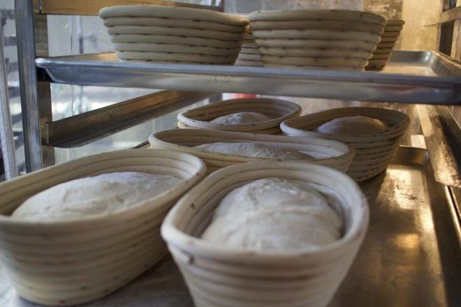 Sourdough loaves are allowed to naturally ferment to develop a deep flavor. - CHERYL BAEHR