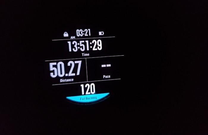 Mark crosses 50 miles overnight in Illinois. - COURTESY MARK FINGERHUT