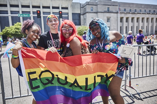 Photo from the St. Louis Pride Parade downtown in 2019. - THEO WELLING
