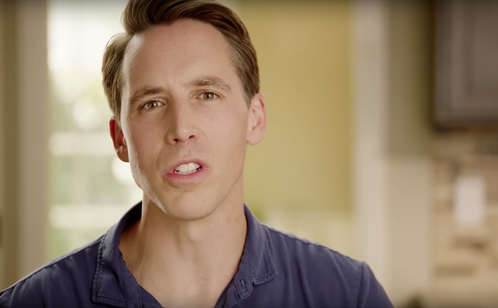 Josh Hawley has been stoking racism his whole political career. - SCREENGRAB VIA YOUTUBE