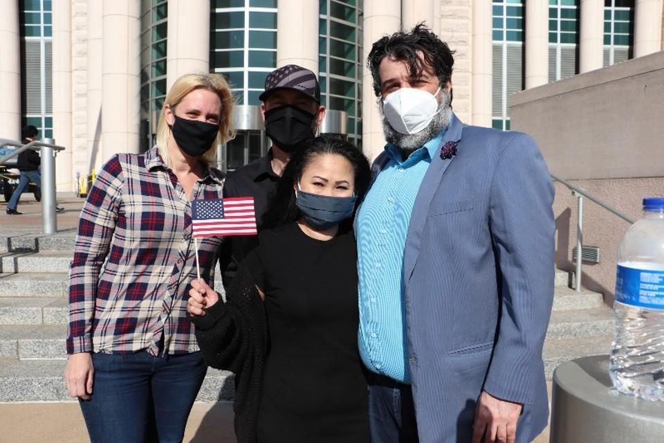 From left: Renee Bronaugh, Justin Boyer, Dow Boyer and Javad Khazaeli. - DANNY WICENTOWSKI