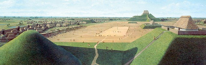 A depiction of day-to-day life during the height of the former community. - COURTESY CAHOKIA INTERPRETIVE CENTER