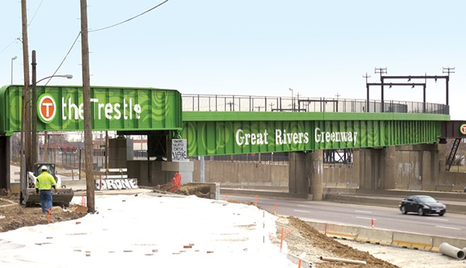 Great Rivers Greenway now has more than 120 miles of paths, including Gravois Greenway. - PAUL SABLEMAN/FLICKR
