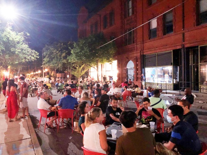 The streets of the Central West End will transform into the CWE Streatery this weekend. - COURTESY OF THE CWE BUSINESS IMPROVEMENT DISTRICT