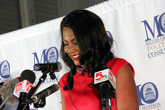 """""""We are done avoiding tough conversations,"""" Tishaura Jones said in her victory speech. """"We are done ignoring the racism that has held our city and our region back."""" - DANNY WICENTOWSKI"""